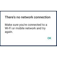 OneDrive No Network Connection